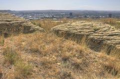 Faturamentos, Montana como visto de cima no verão fotos de stock