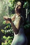 faublous brunetka las Zdjęcie Stock