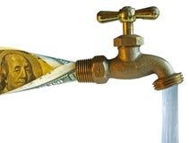 Faucet, água do processo Fotografia de Stock