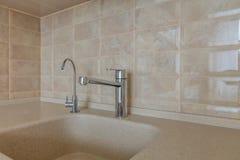 Faucet в кухне Стоковые Изображения RF