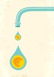 Faucet и деньги иллюстрация вектора