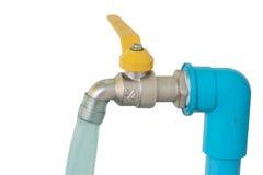 Faucet на белой предпосылке Стоковая Фотография