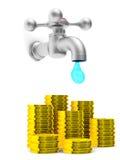 faucet предпосылки близкий вверх по белизне Стоковые Фотографии RF