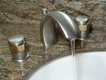 Faucet. Photo of Sink Faucet royalty free stock photos