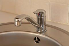 Faucet. Kitchen washbasin, faucet, close up Stock Photo