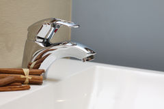 Faucet And Sink - Luxury Interior Stock Photography