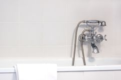 Faucet in bathroom Royalty Free Stock Photos