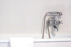 Faucet in bathroom Royalty Free Stock Photos