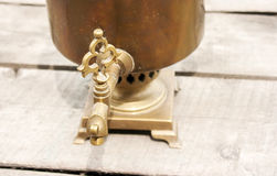 Faucet of bronze samovar Royalty Free Stock Photography