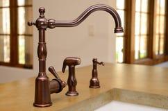 Faucet da cozinha Foto de Stock