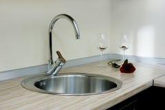 Faucet da cozinha Fotografia de Stock