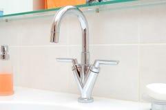 Faucet de água do aço inoxidável Imagens de Stock