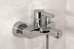Faucet do chuveiro Fotografia de Stock Royalty Free