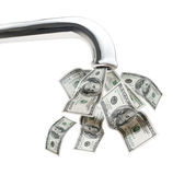 Faucet do dinheiro Foto de Stock Royalty Free