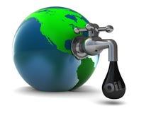 Faucet do petróleo ilustração do vetor