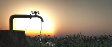 faucet and drop Stock Photo