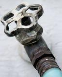 faucet hose outside Στοκ φωτογραφία με δικαίωμα ελεύθερης χρήσης