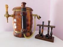 Faucet i drymby obrazy stock