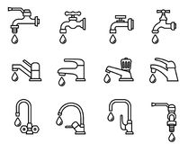 Faucet  icon. Royalty Free Stock Photo