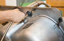 Faucet Installation Stock Photos