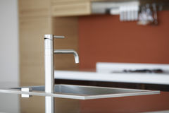 Faucet In Kitchen Stock Photo