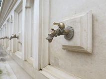 Faucet with mineral water. Drinking fountain Stock Image