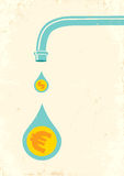 Faucet and money Royalty Free Stock Photography