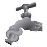 faucet save the water icon Stock Image