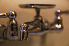 Faucet. Scene of the metal faucet Stock Photography