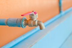 Faucet at schools. Faucet at schools in thailand Royalty Free Stock Photo