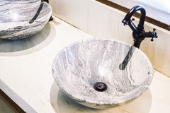 Faucet sink decoration in bathroom interior Royalty Free Stock Photography