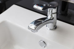 faucet in toilet Stock Image