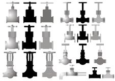 Faucet variety. Royalty Free Stock Images