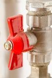 Faucet vermelho Imagens de Stock
