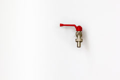 Faucet on wall Stock Photography