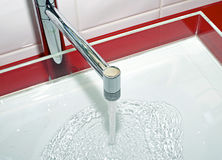 Faucet with water Royalty Free Stock Photos