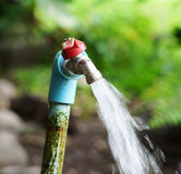 Faucet and water. Faucet water is flowing in Thailand Stock Photos