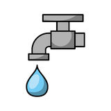 Faucet water isolated icon Stock Photography