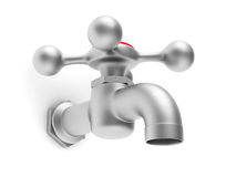 Faucet on white background Royalty Free Stock Image