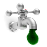 Faucet on white background Royalty Free Stock Photography