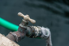 Faucet yacht accessorie. In harbor faucet for yachts and boats Royalty Free Stock Photo