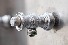 Faucet zamknięty up Zdjęcie Royalty Free