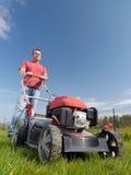 Fauchage d'herbe Images libres de droits
