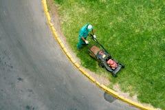 Fauchage de la pelouse Photos libres de droits