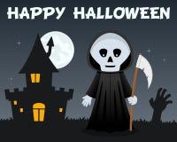 Faucheuse de Halloween et Chambre hantée Photo stock