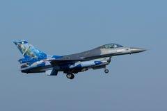 Faucon de combat de F-16 de Lockheed Martin Image stock
