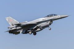 Faucon de combat polonais de F-16C Photos libres de droits