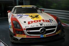 Faucon de noir de Mercedes Benz SLS AMG GT3 Image stock