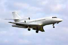 Faucon français 900 de Dassault de l'Armée de l'Air Photos libres de droits