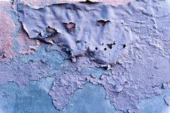 Faule Betonmauer mit geblasener Farbe Lizenzfreies Stockbild